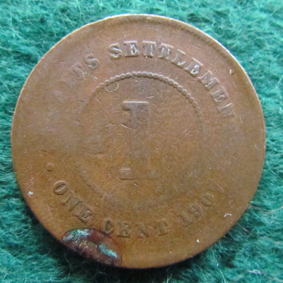 Straits Settlements 1907 1 Cent King Edward VII Coin
