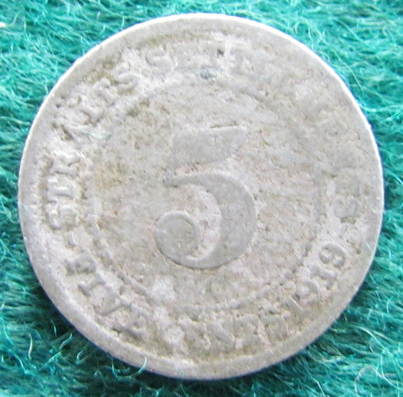 Straits Settlements 1919 5 Cent King George V Coin