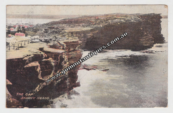 Postcard The Gap Sydney Heads NSW Postmarked 1909