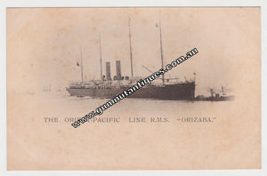 "Postcard The Orient Pacific Line R.M.S. "" Orizaba "" 1904"