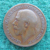GB British UK English 1911 Half Penny King George V Coin Circulated