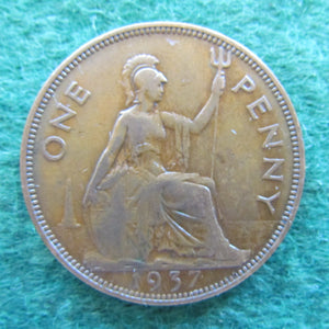 GB British UK English 1937 Penny King George V Coin