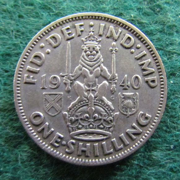 GB British UK Scottish 1940 1 Shilling King George VI Coin
