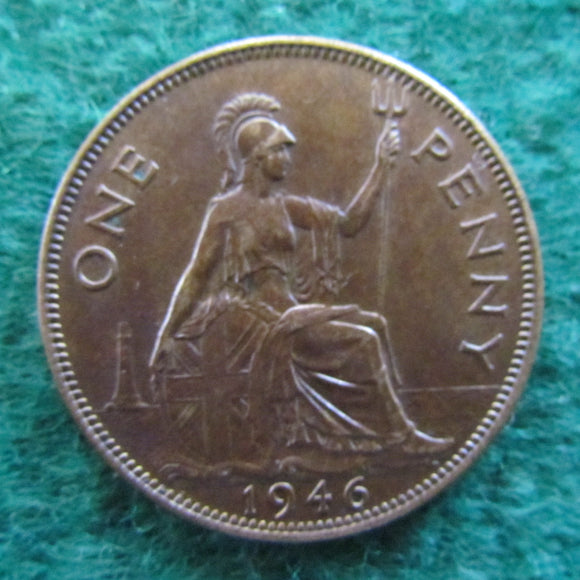 GB British UK English 1946 Penny King George VI Coin