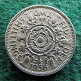 GB British UK English 1956 2 Shilling Queen Elizabeth II Coin