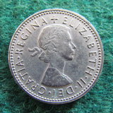 GB British UK English 1966 One Shilling Queen Elizabeth II Coin - Circulated
