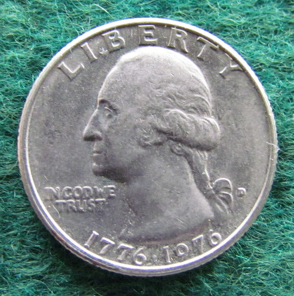 USA American 1776 - 1976 D Quarter Washington Bi-centenary Coin - Circulated