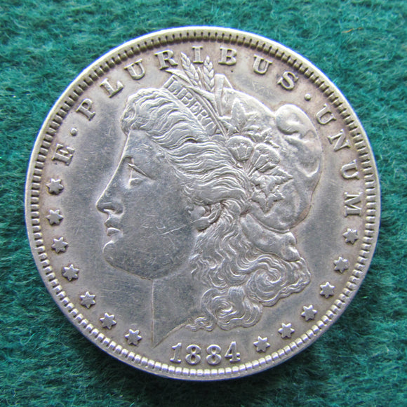 USA American 1884 Morgan Silver Dollar - Circulated