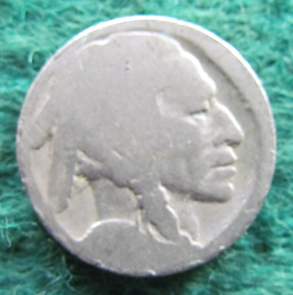 USA American 1913 - 1938 Buffalo Nickel Coin - Circulated Illegible Date