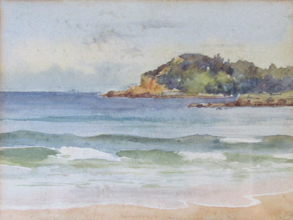 Unsigned Watercolour Seascape