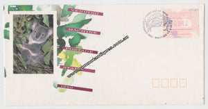 Australian First Day Cover Vending Machine Postage Stamp 1990 43c Postmarked 3 September 1990