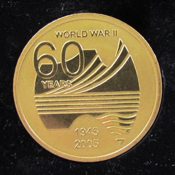 Commemorative Token 60 Years Anniversary Of The End OF WWII For Service To Australia