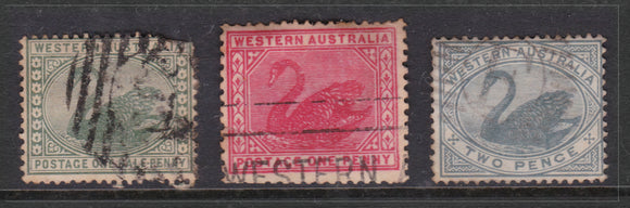 Western Australian State Swan Stamp Collective (Three Stamps)