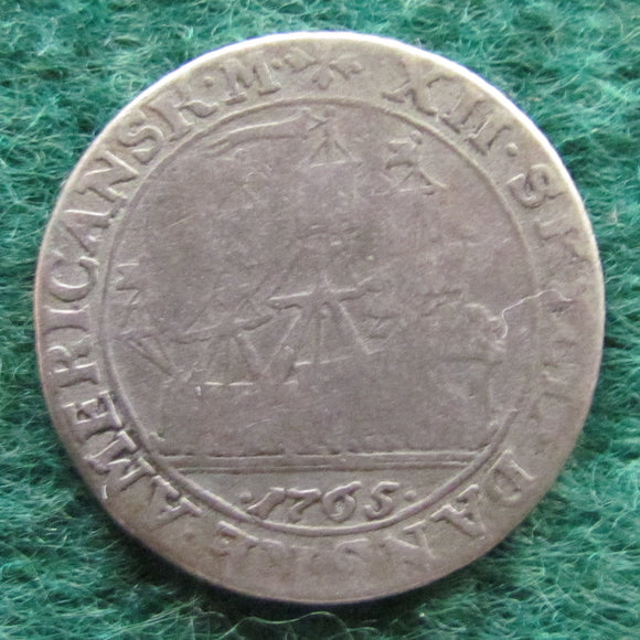 Danish West Indies 1765 12 Skilling King Frederik V Coin
