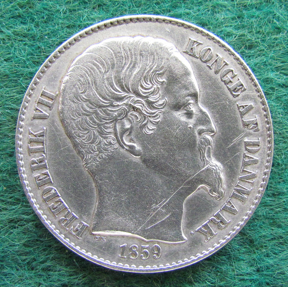 Danish West Indies 1859 20 Cents King Frederik VII Coin