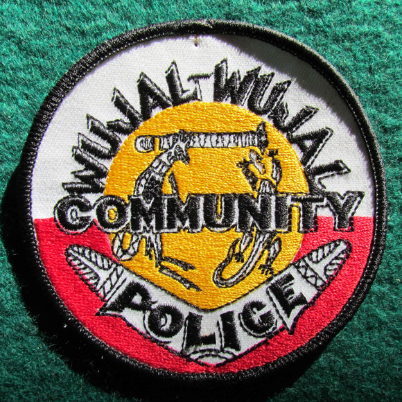 Australian Community Police Shoulder Patch - Wujal-Wajal Community - Cape York Region Queensland