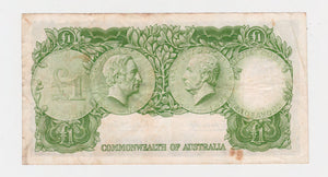Australian 1961 1 Pound Coombs Wilson Banknote s/n HH/25 576099 - Circulated