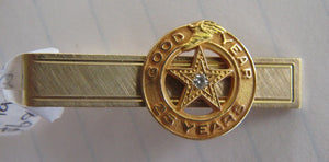 GoodYear tie clasp/bar plated clip with 9ct gold emblem
