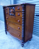 Australian Cedar 7 drawer chest of drawers from Victoria with secondary timbers of redwood & pine c1880-90