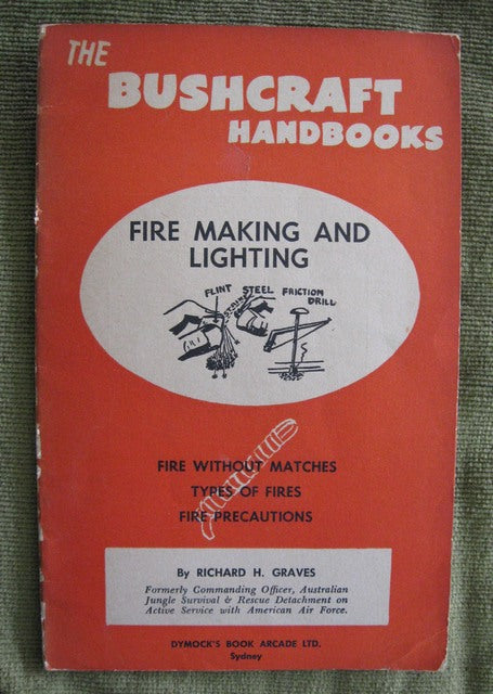 Fire Making and Lighting Australian Boy Scouting book