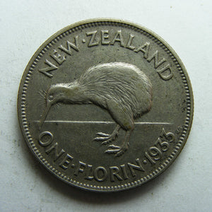 New Zealand 1933 Florin King George V Coin