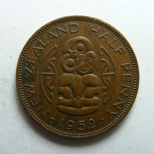 New Zealand 1952 Half Penny King George VI Coin