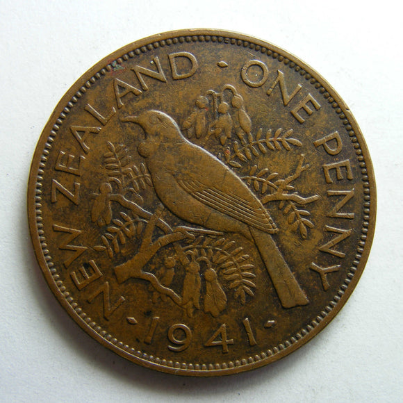 New Zealand 1941 Penny King George VI Coin