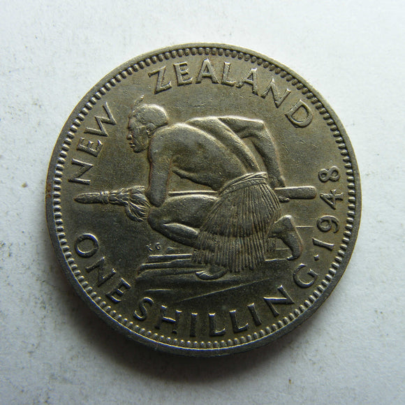 New Zealand 1948 Shilling King George VI Coin