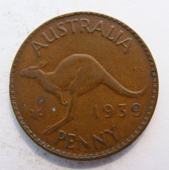 Australian 1939 Penny King George VI Coin