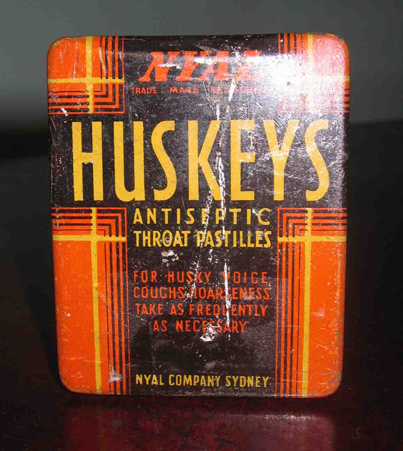 Huskeys Antiseptic Throat Pastiles Tin