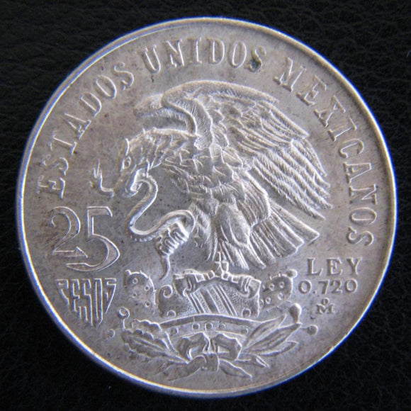 Mexico 25 Pesos 1968 Silver Olympic Games Coin