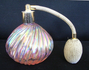 Pink lustre glass atomizer perfume bottle