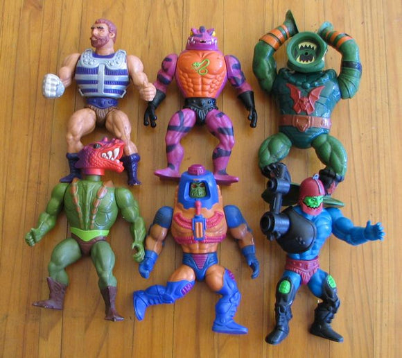 Original collection ( Over 60 pieces ) of He Man & Masters of the Universe action figures including accessories in well used condition