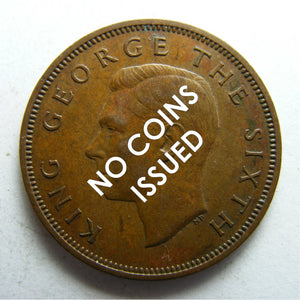 New Zealand 1943 Half Penny King George VI Coin