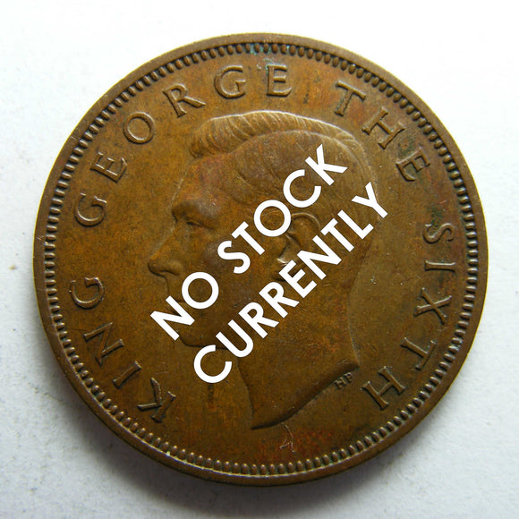 New Zealand 1950 Half Penny King George VI Coin