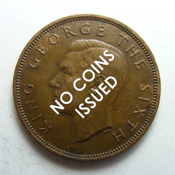 New Zealand 1934 Penny King George V Coin