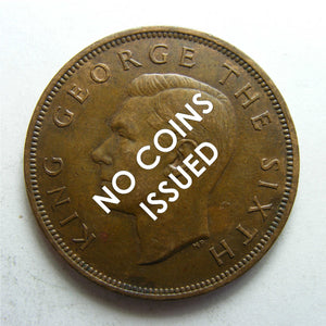 New Zealand 1936 Penny King George V Coin