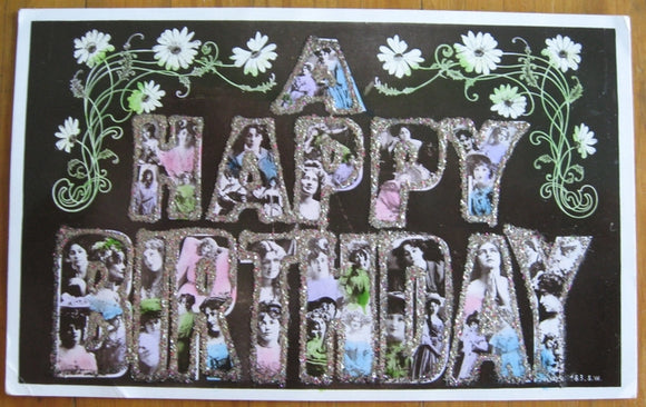 Postcard birthday greeting printed by J Beagles & Co Ltd London