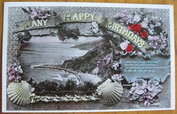 Postcard birthday greeting 1908 printed by J Beagles & Co Ltd London SW Series Sydney
