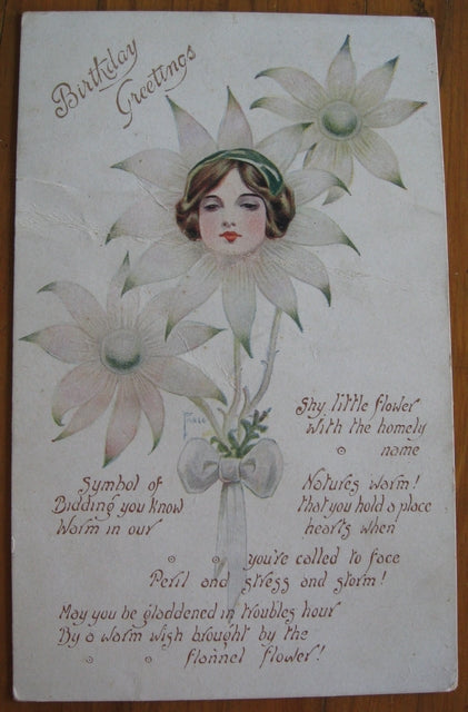 Postcard birthday greeting 1919 produced by Australian Enamellers (RPN)