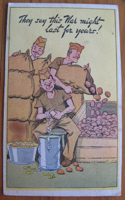 Postcard vintage humor 'They say this war might.... by John Sands Pty Ltd