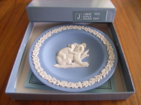 Wedgwood Complete Set of 9 Round Plates Trays Australian Animals Series (Limited Edition 1989)