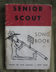 Senior Scout Song Book Boy Scouting book