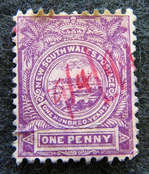 Australian stamp New South Wales 1888 Lilac 1d 1 one penny View of Sydney stamp reference SG45 image