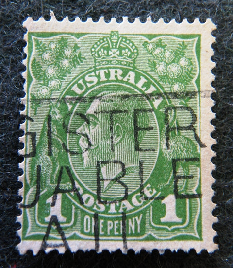 Australian stamp Australian 1913 - 36 Green 1d 1 penny one King George V KGV stamp Definitive Issue R25