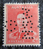 Australian stamp Australian 1913 - 36 Orange 4d 4 four penny King George V KGV stamp Definitive Issue R34 (perferated OS NSW)