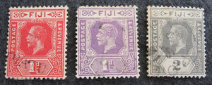 Fiji Stamp Fiji group of 3 King George V KGV pre-decimal stamps
