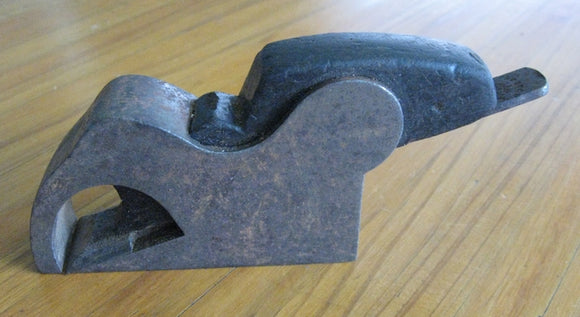 Preston Steel infill bullnose plane with ebony wedge c1890