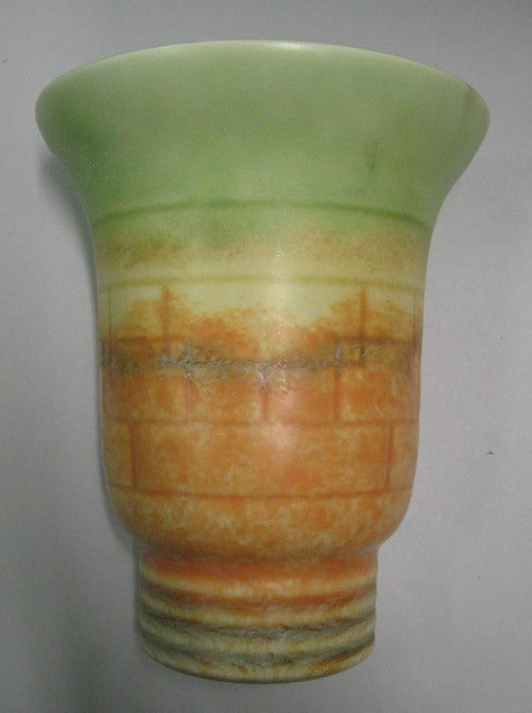 Beswick ( Attributed ) matt finish brick pattern wall pocket / wall vase