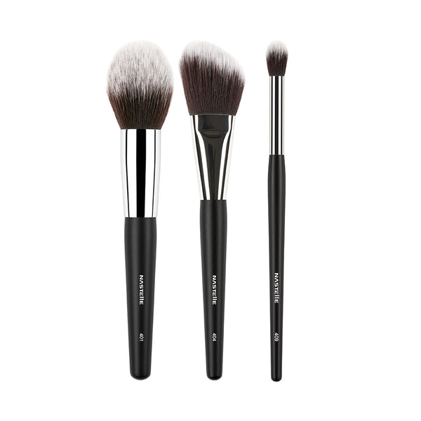 The Nastelle Blending Kit with 3 Taklon Brushes, SN3